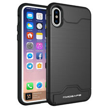 Kickstand Card Pocket Armor Hybrid Cover Case For iPhone XS Max XR X 8 6S 7 Plus