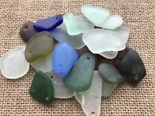 25 pre top drilled pieces of Scottish Sea glass various sizes and colours # 142