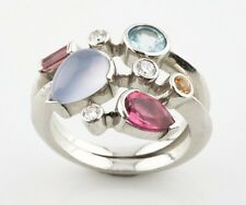 Cartier Meli Melo Platinum and Diamond & Gemstone Ring Size Size 6.75 1990s