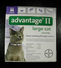 ADVANTAGE II for Large CATS over 9 lbs 2pk (Comes W/BOX ) U.S EPA APPROVED !!!