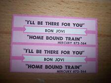 """2 Jon Bon Jovi I'll Be There For You Jukebox Title Strip CD 7"""" 45RPM Records"""