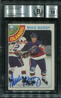 HOF MIKE BOSSY signed autographed 1978-79 OPC ROOKIE CARD RC BECKETT (BAS) 10