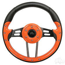 Aviator 4 Golf Cart Steering Wheel Orange (Adapter Required)