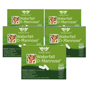 (5 Pack) DMannose Tablets 100 x 0.5g   Waterfall D-Mannose   Sweet Cures : 5PP