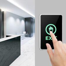 Touch Sensor Exit Push Door Release Open Button Switch LED Light  NC NO COM