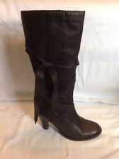 Principles Black Knee High Leather Boots Size 40