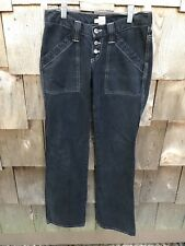 "Joie Size 25 Womens Dark Wash Jeans Low Rise Button Fly Flare Leg 34"" Inseam"