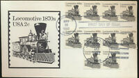 #1897A Train Locomotive Transportation Coil Andrews Cachet FDC Unadd LOT 1342