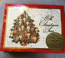 12 Vintage Christmas Cards with Keepsake Box, New