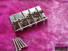 Vintage 1959 Fender Precision Bass Bridge Plate Saddles 1960 1958 1957 PRE-CBS