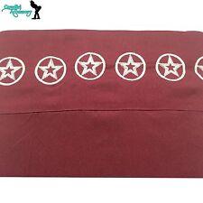 Western Texas Star Polyester Sheet Set Maroon Queen