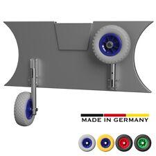 Slipräder aus Edelstahl V4A ° Schlauchbooträder ° PU ° Salzwasser ° grau/blau