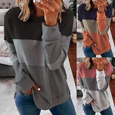 Damen Sweatshirt Langarm T-Shirt Freizeit Bluse Hemd Herbst Oberteile Basic Tops