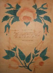 AAFA 1800s Small Folk Art Country Primitive Watercolor Theorem Luzerne, PA?