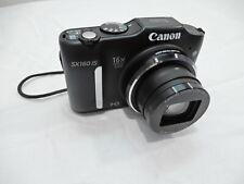 "Canon PowerShot SX160 IS 16MP 16x Optical Zoom 3"" LCD Digital Camera Black ~!"