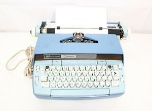 Smith Corona Coronet Automatic 12 Electric Blue 1960s Typewriter For Repair
