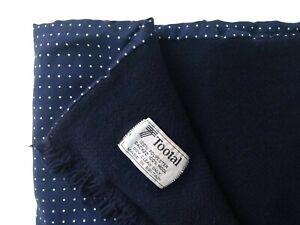 TOOTAL Men's Scarf Navy Blue Polka Dot Pattern Wool