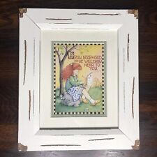 Mary Engelbreit Framed Picture Wall Hanging Decoration Draw Near To God Matted