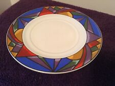 Sakura SUNSET MOUNTAIN Saucer 1993 Beautiful Jewel Tones Vintage Multicolor