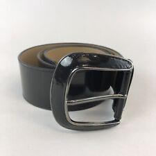 """Austin Reed Damas Charol Negro Cinturón Boho ancho talla m de longitud de 40"""" de largo"""