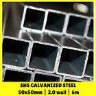 50x50mm 6m SHS Galvanised Square Steel Pipe Tube Mill Finish