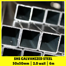 6m Galvanised Steel Tube Pipe SHS Square 50x50mm 2mm Wall