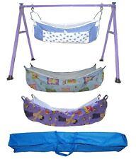 Smart Baby Purple Colur Poweder Coating Folding Baby Cradle with zip net PR12