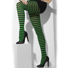 Donna Verde e Nero a Righe Aderente Halloween Accessorio Smiffys 42722
