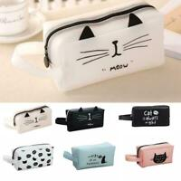 Cute Kawaii Cat Pencil Case Gel Penal Pencilcase For Girl Cartoon Stationer N1V0