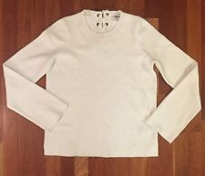 Madewell laced-back pullover sweater in bright ivory $88