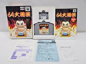 N64 -- 64 Ozumou -- Boxed. Nintendo 64, Japan Game. Sumo Wrestling. 19825