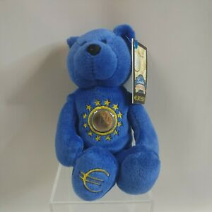 Limited Treasures Euro Bear European Union With Euro Coin 2002 New With Tag