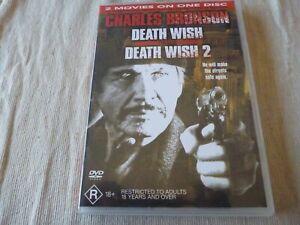 Death Wish & Death Wish 2 (DVD, 2003) Reg 4 DOUBLE SIDED DISC Charles Bronson