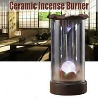 Ceramic Backflow Incense Burner Smoke Cones Holder Sticks Censer Clay Sandalwood