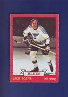 Jack Egers 1973-74 O-PEE-CHEE OPC Hockey #79 (EXMT+) St. Louis Blues