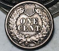 1863 Indian Head Cent Penny CN 1C FULL LIBERTY Civil War Era Good US Coin CC5261