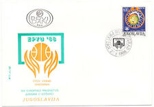 Yugoslavia #1905 Europe Jr Basketball Championship 1987 First Day Cover FDC