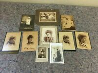 Lot of Antique Photos-Cabinet Cards-Kids-Military-Ladies