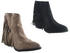 Zip Suede Mid Heel (1.5-3 in.) Unbranded Boots for Women