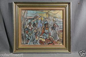 "20th Century Pastel on Paper ""Martek Scene"" signed Marion Greenwood (AMERICAN)"