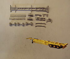 P&D Marsh N Gauge N Scale MV246 45ft Skeletal trailer (3) kit requires painting