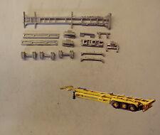 P&D Marsh N Gauge N Scale MV246 45ft Skeletal trailer (3) kit requires painting