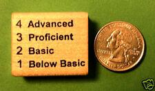 Advanced/Proficient/Basic/Below - 4321 Teacher's Stamp