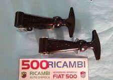FIAT 500 F/L/R COPPIA GANCI BAULE FERMO COFANO ANTERIORE POSTERIORE ABARTH GRAND