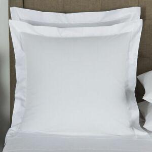 Frette White Square Euro Sham Pillow Cases (SET OF 2) 100% Egypt Cotton NEW!