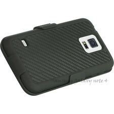 Carbon Fiber PLATINUM SHEL-TEK KNIGHT Belt Clip Holster Case For Samsung Note 4