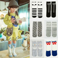 Children's Knee High Socks Cartoon Cat/Fox/Panda Leg Warmers Socks Fall Winter
