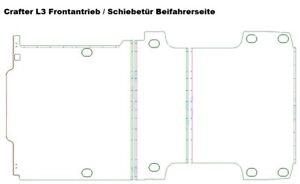 Bodenplatte für VW Crafter 2. Generation Siebdruckplatte