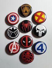 "MARVEL COMICS LOGO 1"" button pin pinback LOT of 10- x-men avengers punisher punk"