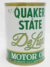 QUAKER STATE FULL DE LUXE ONE QUART OIL CAN LOT 5